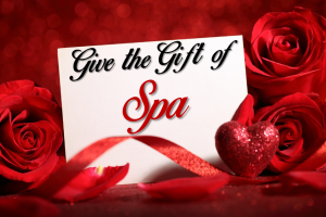 valentine gift certificate, spa treatments