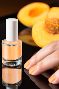 spa, day spa, manicure, pedicure, peach nail color